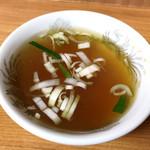 97731089 - 玉子チャーハン・焼き餃子 セット  ¥980 のスープ