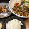 えびす丸 - 料理写真:混ぜそば 鶏唐揚3個 ご飯 豪華セット (*´∀`*)