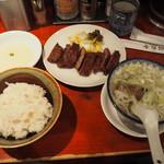 たんや 善治郎 - 牛たん定食 1850円+税148円