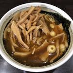 中華そば べんてん - メンマトッピングのつけ汁