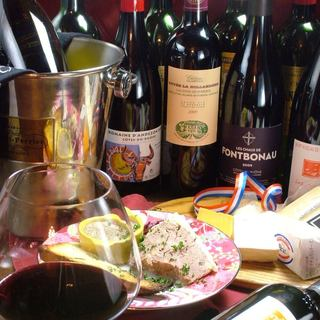 安くて美味しいが嬉しい*カジュアルに楽しむ豊富な厳選ワイン!