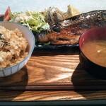 クロモンカフェ - 今日の魚定食1000円税込トロサバ