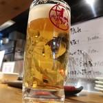 人形町 肉寿司 - ビール