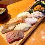 板前寿司 - 板前炙りにぎりセット