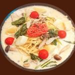焼きタラコと季節野菜のクリーム