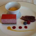 箱根ハイランドホテル ラ・フォーレ - ムースケーキとシャーベット
