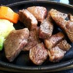 焼肉もとぶ牧場 - もとぶ牛ロースステーキセット(2.900円)