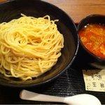 つけ麺 てつ蔵 - 辛ごまつけ麺800円+味玉100円