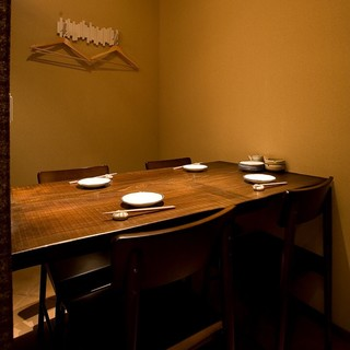 テーブル&掘りごたつの個室がメインの居心地よい和空間◎