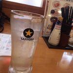一軒め酒場 - レモンサワー205円(税込)