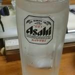 魚介 - 芋焼酎水割り