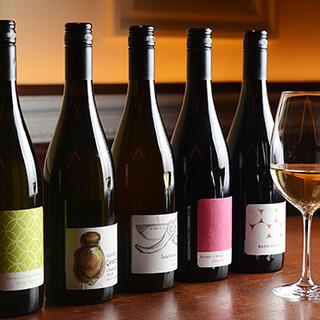 自社醸造のワインから世界のワインまで幅広いラインナップ!