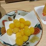 割烹 熊谷 - 揚げ銀杏
