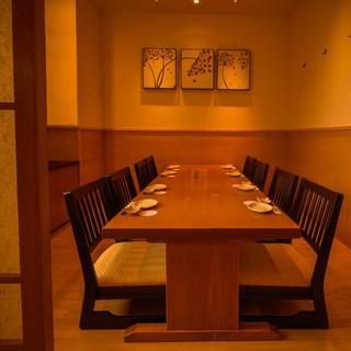 【接待・宴会】4名〜40名様収容、テーブル・お座敷各種個室