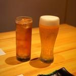 浅葱  - 生ビールとウーロン茶