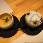 浅葱  - 蝦夷鮑の茶碗蒸し