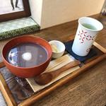 やなか健真堂 - こしあんのおしるこセット(650円 +税)