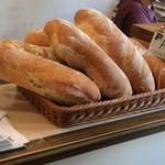 トラットリア ピッツェリア polipo - ピザ生地で作ったパン