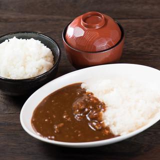 ご飯・お味噌汁・カレーは250円で食べ放題♪