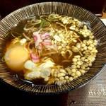 嵯峨谷 - たぬき&生卵440円
