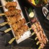 Tsukuneyafukusute - 料理写真:ネギ間塩、鳥皮タレなど