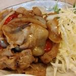 中華食堂 萬里 - 食べ終わってよくよく考えたら、Cセットの「野菜炒め」だった....orz