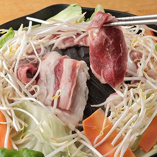 地元奥飛騨産で新鮮だからできる臭みのない≪ジンギスカン定食≫