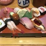 すし政 - 上定食 1000円