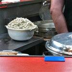 ラーメン二郎 - 茹でる直前の麺