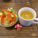 97810210 - サラダとスープ