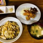 鳥扇 - 丼唐定食