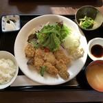 小鮎 - かきフライ定食