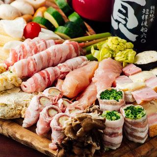 飲める天ぷら屋!!お好きなネタを1本ずつから選べます。