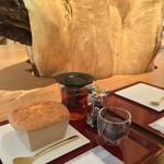カステラショップ - 料理写真:焼きたて八幡カステラセット(885円)