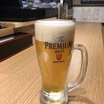 天ぷら おばんざい酒場 カレーうどん渡邊 - 生ビールはプレモルです。