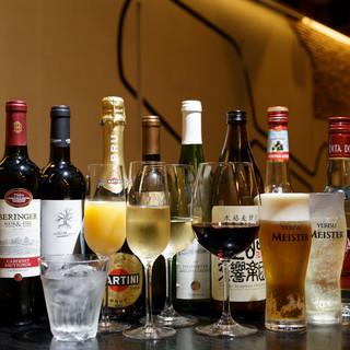 グラスワインは約70種類☆一期一会の味わいをお愉しみください