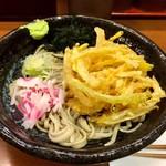 嵯峨谷 - 天ぷら蕎麦(冷)