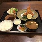鶴べ別館 - 海老フライ定食       ¥1080  税込