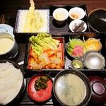 97842632 - 日替わり御膳(豚肉と彩り野菜の甘酢あんかけ)848円+税 2018/07