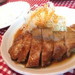 レストランあづま - 夜:生姜焼き(1,300)+ライス300