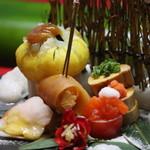 笑彩酒房 まっちゃん - コース料理の前菜(例)