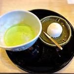 喫茶かんばやし - お抹茶と栗餅