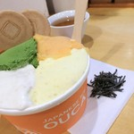 97859285 - 特盛 焼き芋+抹茶+かりんとう+柿氷菓
