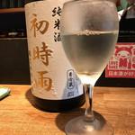 和酒立呑 明後日 - 両関酒造純米「初時雨」