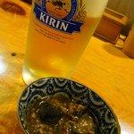 串甚 - 生ビールと突き出し