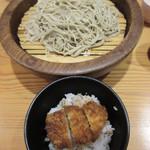 97871137 - そば3人衆とソース味ミニカツ(ヒレ)丼