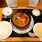福満苑 鼓楼 - 料理写真:ラムすじトマトピーマン辣煮 (日替わり定食)