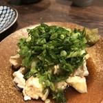 地鶏割烹 稲垣 - ネギだくスジぽん酢