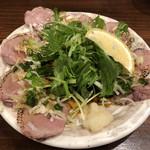 97886779 - 「炙り上タン刺」580円