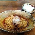 汁なし担担麺 くにまつ - 料理写真:汁なし担担麺と半ライス